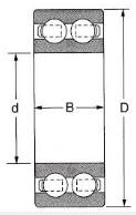 Чертеж шарикового двухрядного подшипника 4304
