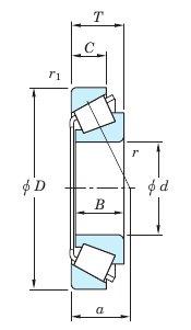 Роликоподшипник серии TSS чертеж