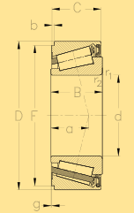 Подшипник IKOS020 чертеж