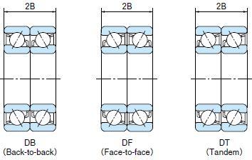 Схемы дуплексирования радиально-упорных шариковых подшипников