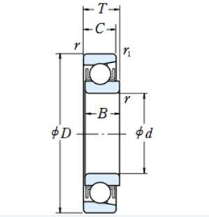чертеж подшипника E18 (EN18)