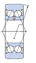 Чертеж опорного ролика со сферической обоймой  LR50/8