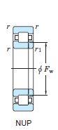 Чертеж роликоподшипника NUP2307 (92607)