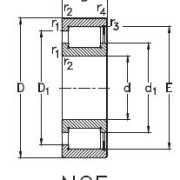 NCF2208 (SL182208) схема подшипника