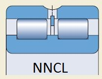 Подшипник NNCL4922-V или SL024922 чертеж